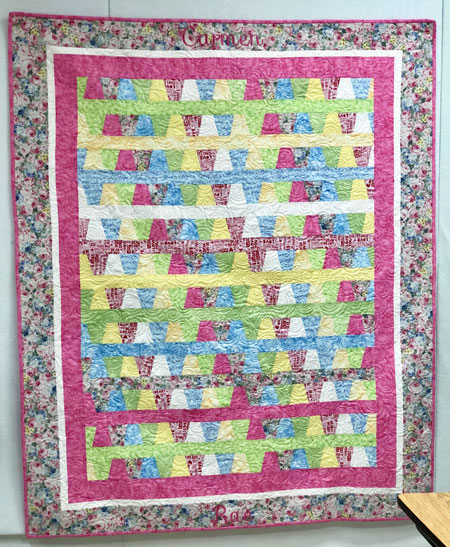 Front Full View of Tumbler Baby quilt