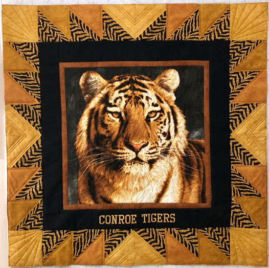 Conroe tigers wall hanging