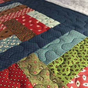 Rail Fence quilt with hobbs batting