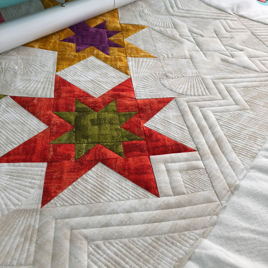 Ruler quilting by Beth Sellers of Cooking Up Quilts