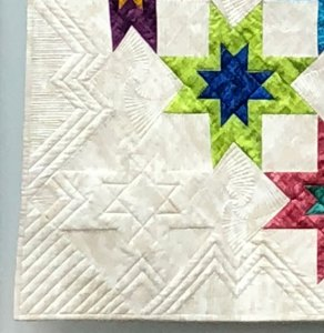 Ruler work by Beth Sellers of Cooking Up Quilts