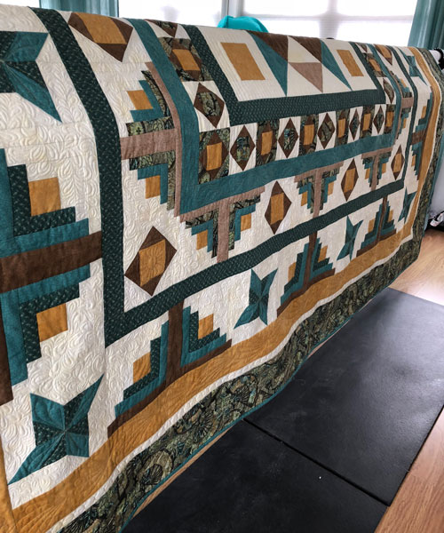Custom Quilting on Mystery Quilt
