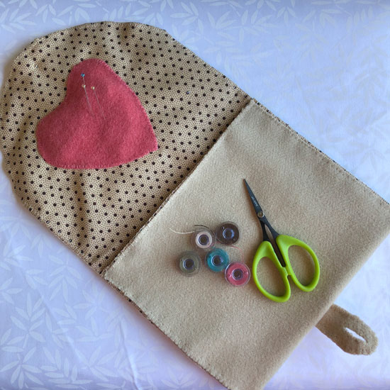 Wool bag applique - inside