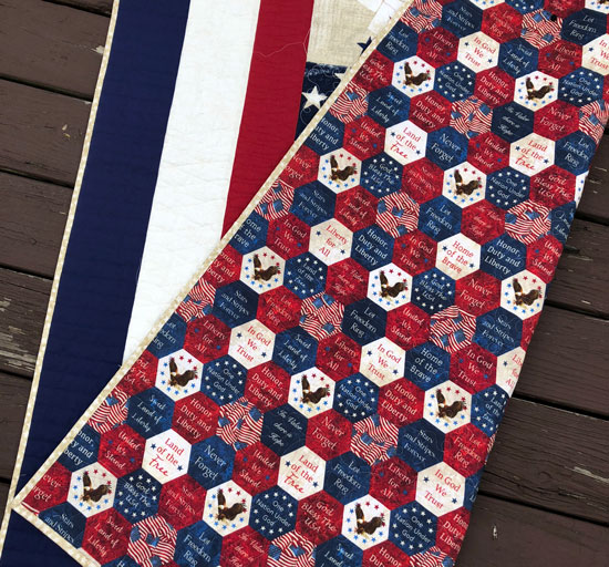 Wideback fabric for patriotic quilts