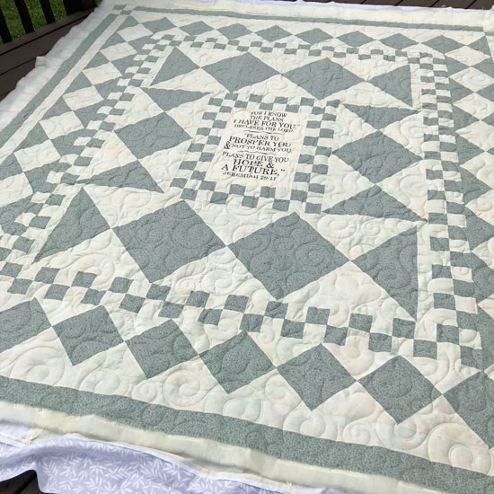 Smitten digital pantograph quilting by Beth Sellers of Cooking Up Quilts