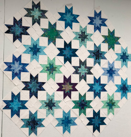 Painted Stars Batik version