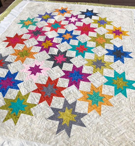 Edge to Edge quilting by Beth Sellers of Cooking Up Quilts
