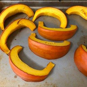 Roasting pumpkins for pumpkin puree