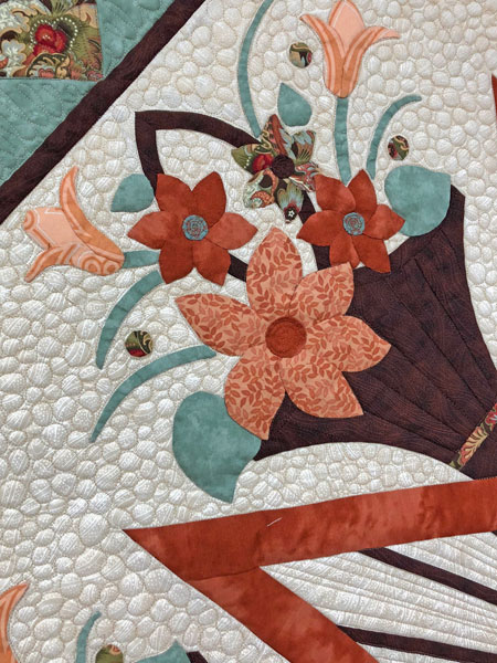 English Garden quilted by Beth Sellers of Cooking Up Quilts