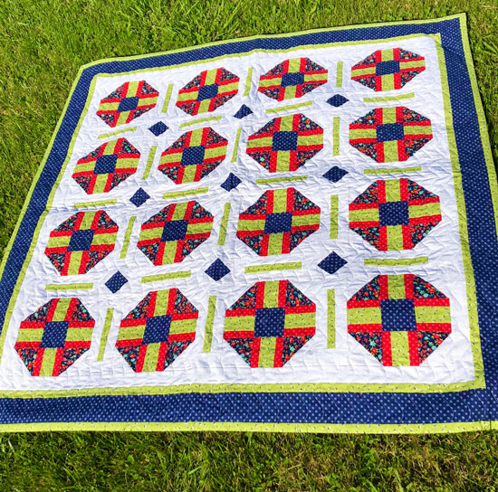 Razzle Berry Quilt Pattern by Beth Sellers of Cooking Up Quilts