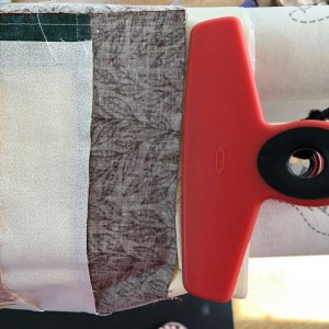 backing fabric with quilt top