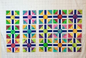 Scrappy Razzle Berry blocks - made by Beth Sellers of Cooking Up Quilts