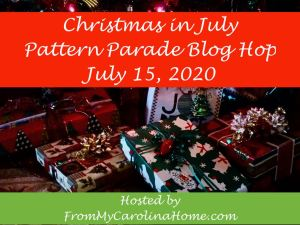 Christmas in July Pattern Parade Blog Hop button