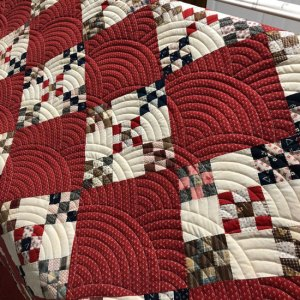 Nine Patch Hand Pieced Quilt