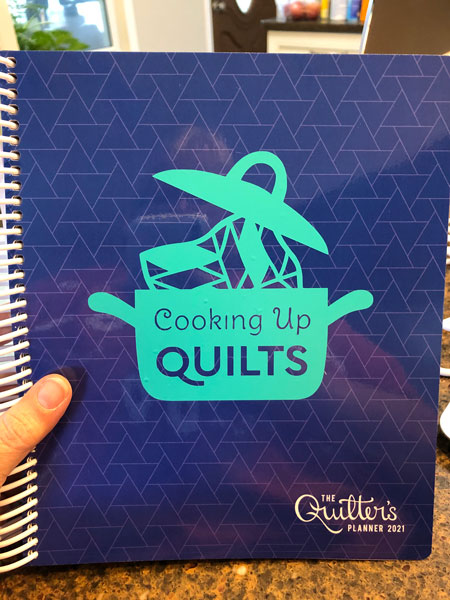 Cooking Up Quilts sticker made with my Cricut Maker