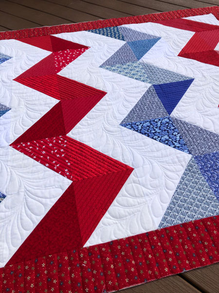 Chevron quilt - quilted by Beth Sellers of Cooking Up Quilts