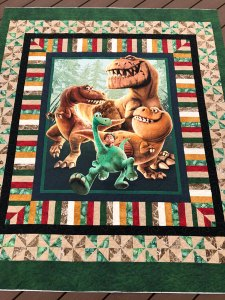 Dinosaur quilting by Beth Sellers of Cooking Up Quilts
