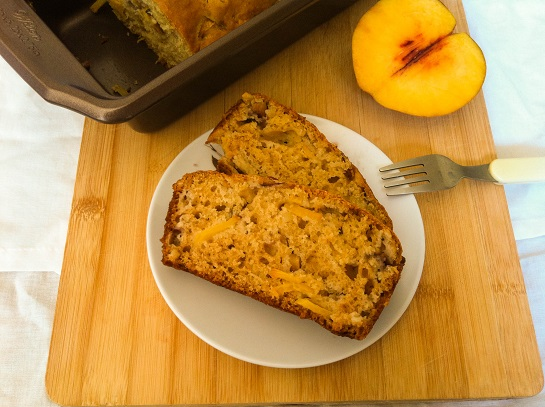 Peach Almond Bread | Cooking with a Wallflower