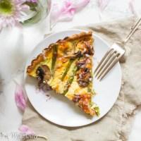 Roasted Asparagus Mushroom Quiche