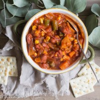 Leftover Turkey Vegetable Chili