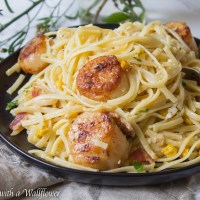 Pan Seared Scallops Pasta Carbonara
