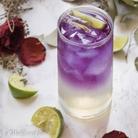 Sparkling Butterfly Pea Flower Tea Lemonade