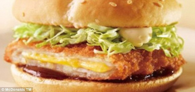 17. Japan's Cheese Katsu Burger is a pork patty stuffed with cheese.