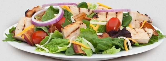 Burger King Tender Grilled Chicken Garden Salad - 300 Calories, 16g of Fat, 33g of Protein.