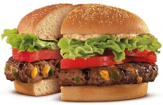 Burger King Veggie Burger (No Cheese or Mayo) - 320 Calories, 7g of Fat, 23g of Protein