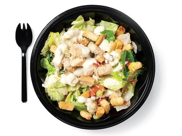 KFC Roasted Chick Caesar Salad (with Fat Free Ranch) - 250 Calories, 8g of Fat, 31g of Protein