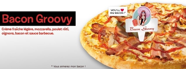 17. Bacon Groovy Pizza - Domino's, France