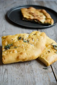Classic focaccia made with olive oil...