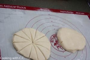 I cut the dough into 12 pieces for smaller scones