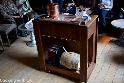 Rolling Cocktail Cart For Table Side Preparation
