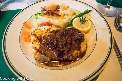 Grouper With Mushroom Sauce