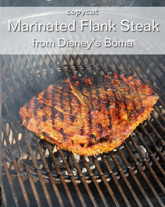 Disney Boma Marinated Flank Steak