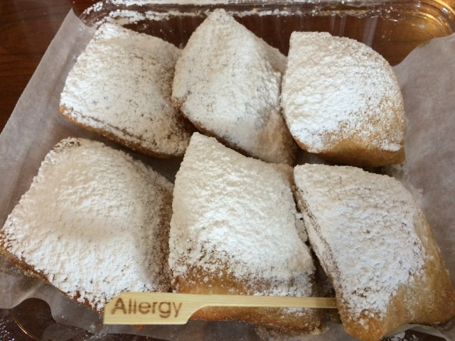Gluten free beignets from Port Orleans French Quarter