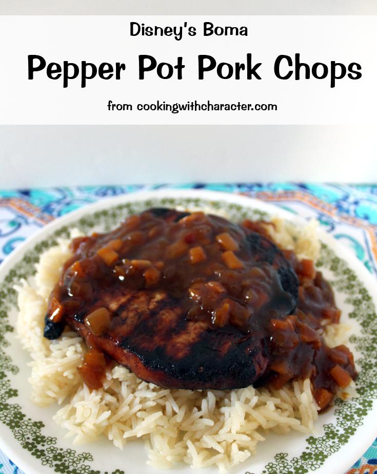 Disney Pepper Pot Pork Chops