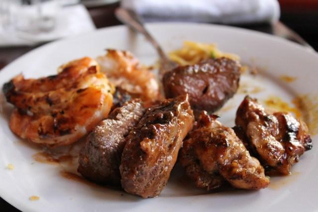 Ohana chicken, beef, and shrimp