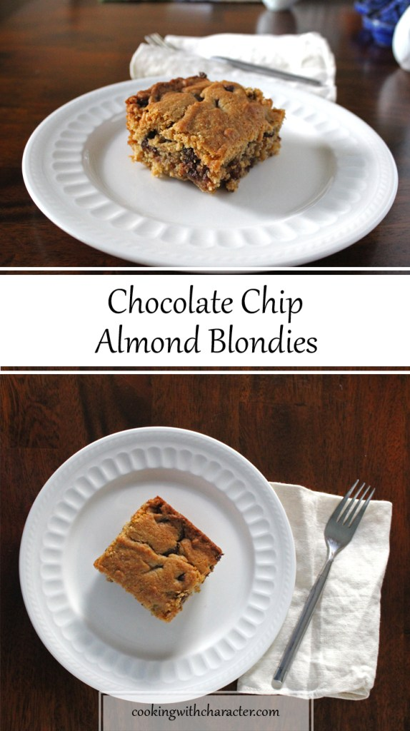 Chocolate Chip Almond Blondies