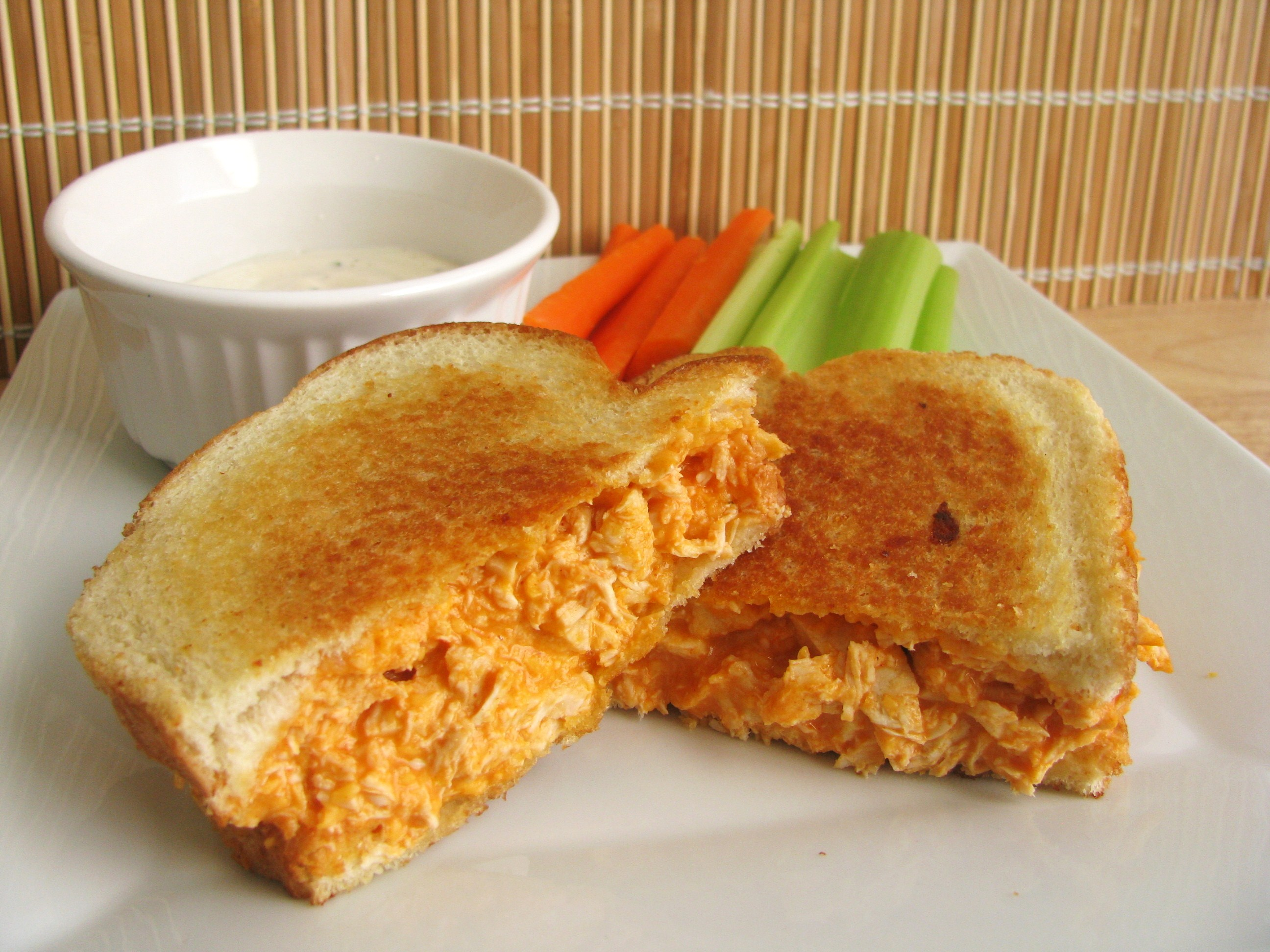 Buffalo Chicken Grilled Cheese Sandwich | Stick a Fork in It