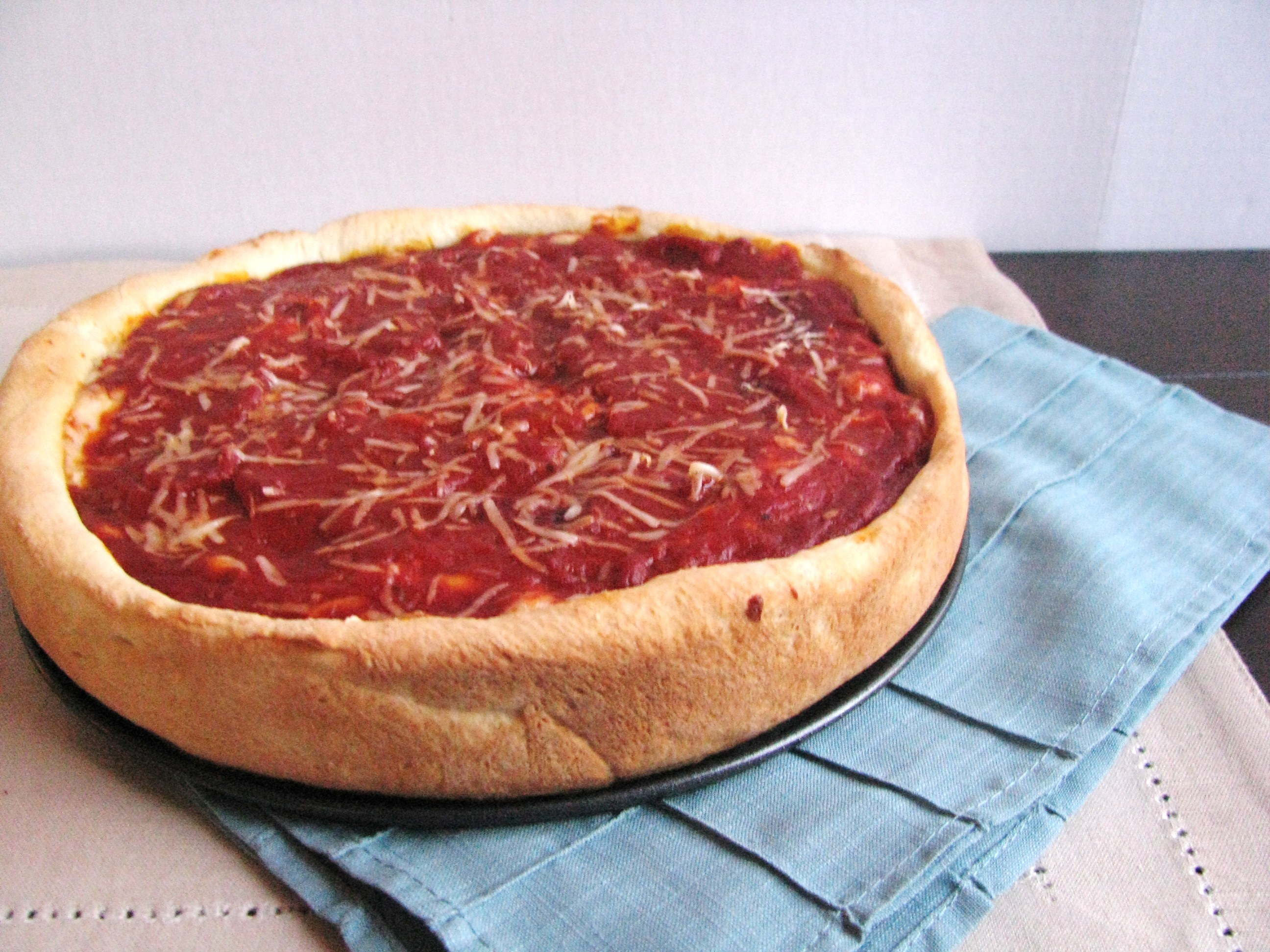 Chicago-Style Deep Dish Pizza | Stick a Fork in It