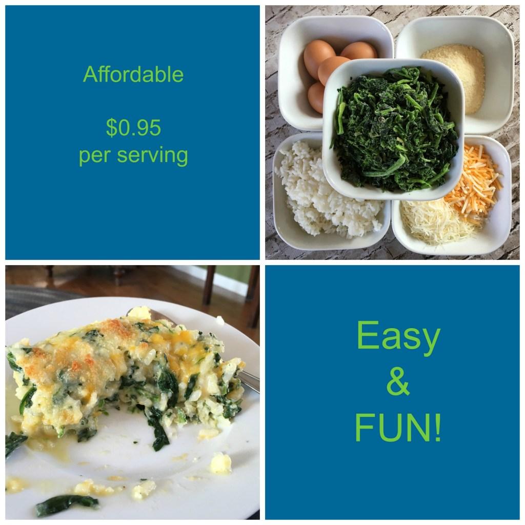 Creamy Rice & Spinach Casserole