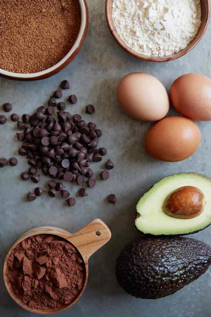 Avocado Brownie Cupcakes Ingredients