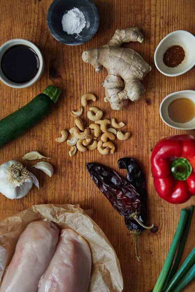 Pressure Cooker Cashew Chicken Ingredients
