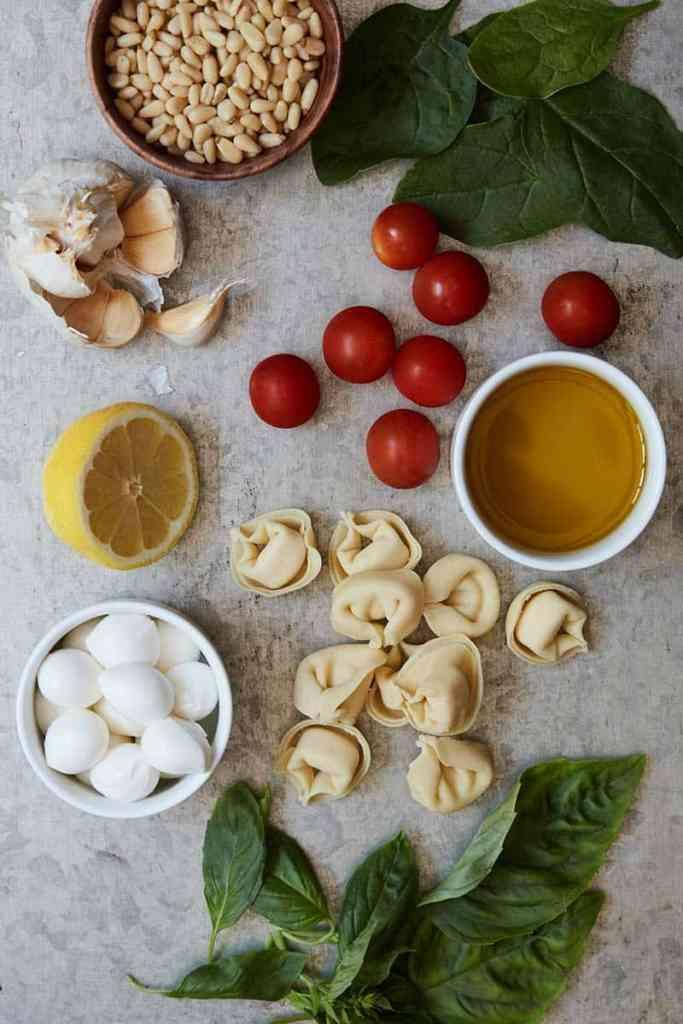Spinach Pesto Tortellini Ingredients