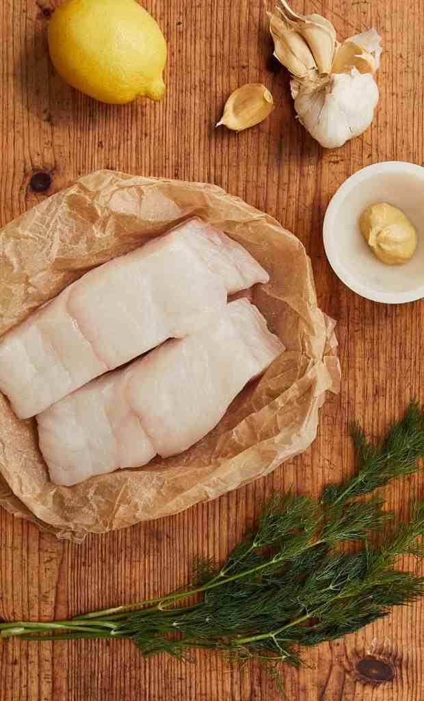 Roasted Dijon Halibut Ingredients