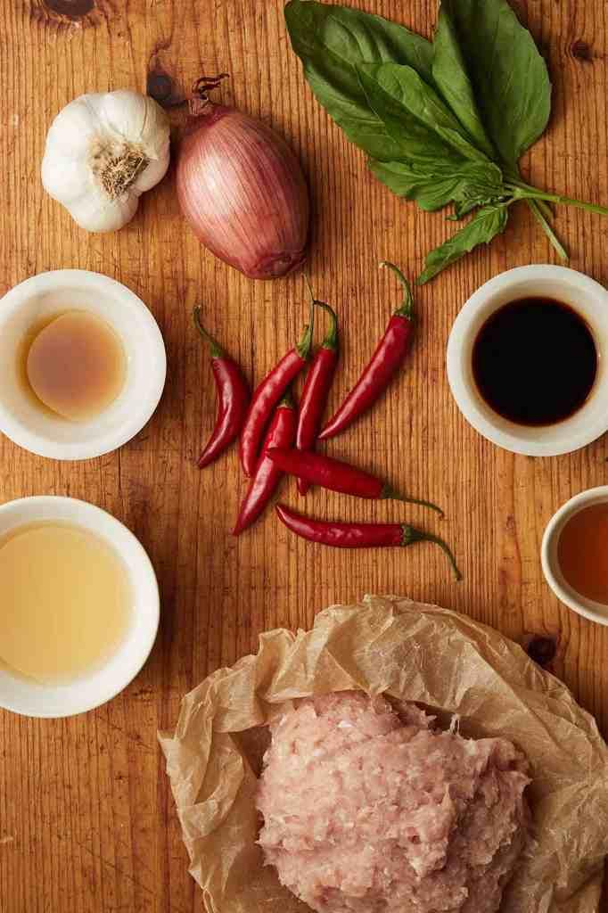 Thai Basil Chicken Ingredients