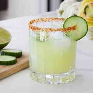 Skinny Spicy Cucumber Margarita