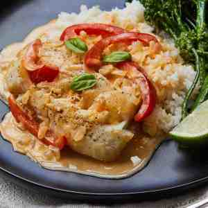 Easy Thai Fish Curry with Broccolini